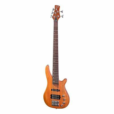 AU649 • Buy J&D Luthiers 5-String T-Style Contemporary Active Electric Bass Guitar (Natural