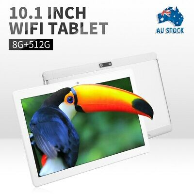 AU110 • Buy 10.1 Inch PC Dual Camera Android 8.1 Bluetooth Tablet 8+512GB WiFi 1080P Phablet