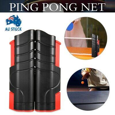 AU16.50 • Buy Portable Retractable Table Tennis Ping Pong Net Kit Indoor Games Replacement Set