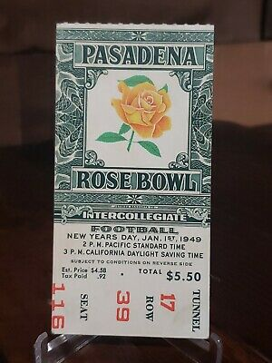 $49.99 • Buy Vintage 1949 Rose Bowl College Football Ticket Stub California Vs Northwestern
