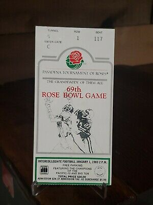$14.99 • Buy Vintage 1983 Rose Bowl College Football Ticket Stub Michigan Vs Ucla Original