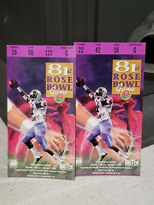 $14.99 • Buy  1995 Rose Bowl College Football Ticket Stub Lot X2 Penn State Vs Oregon