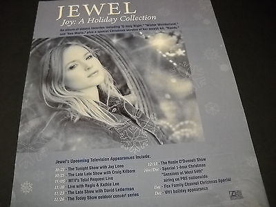 $ CDN12.47 • Buy JEWEL Kilcher Upcoming TV Appearances For JOY/ HOLIDAY 1999 Promo Poster Ad Mint