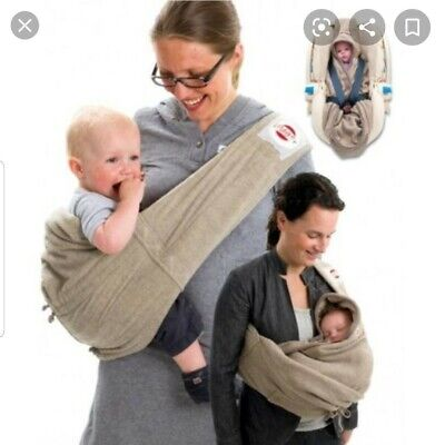 Baby Hip Sling Carrier Wrap Cape For Car Seat Lodger Shelter Fleece 0-18m • 19.99£