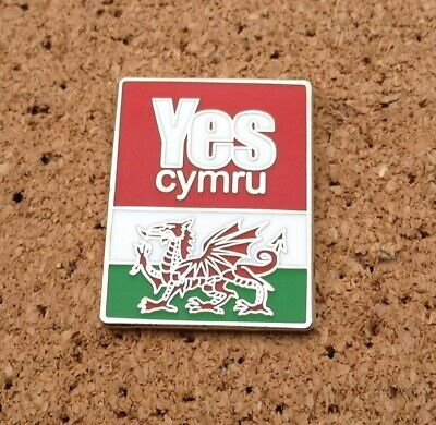 *NEW* YES CYMRU/WALES  - Independence/Annibyniaeth - Welsh Flag PIN/BADGE • 3£