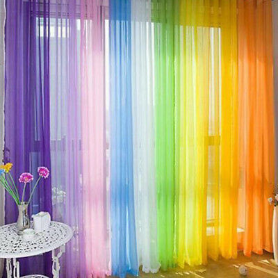 Sheer Tulle Voile Net Curtains Tab Top Blush Panels Sorted Decors 2m*1m • 4.79£
