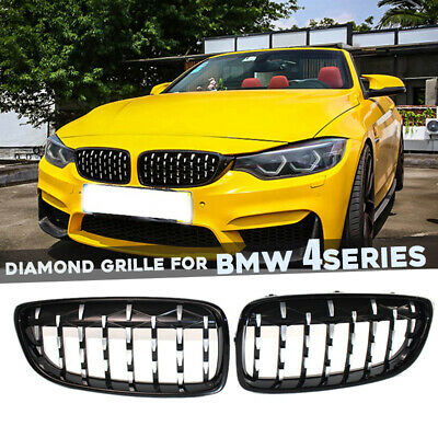 $99.50 • Buy Diamond Front Kidney Grilles Grill For BMW 4Series F32 F33 F36 M4 M3 Accessories