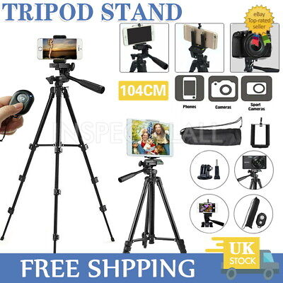 Universal Tripod Stand Telescopic Camera Phone Holder For IPhone Samsung Live UK • 12.49£