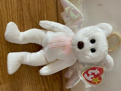 TY Beanie Babies HALO BEAR 31 August 1998 TAG Retired Rare Brown Nose • 180£