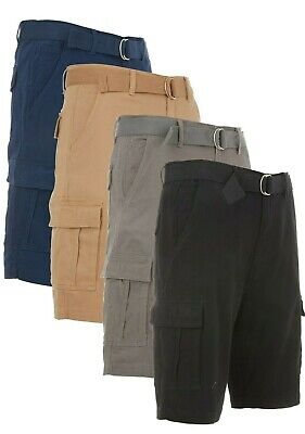 $17.99 • Buy Men's Cargo Shorts Casual Cotton Twill Multi Pockets Lightweight Outdoor Belted