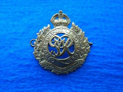 Genuine Wwii Royal Canadian Engineers Grvi Egyptian Sand Cast Cap Badge + Pin  • 20£