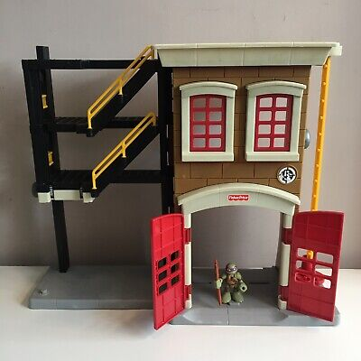 Imaginext Fisher Price Fire Station With Turtles Figure Toy Play Set Tmnt • 8.99£