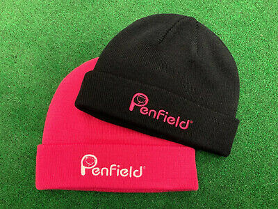 New Ladies Penfield Beanie X 2 - 1 X Raspberry And 1 X Black - One Size Fits All • 30£