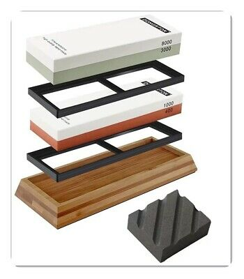 $54.99 • Buy Knife Sharpening Stone Kit Premium Japanese Whetstone Set 400/1000 3000/8000 New