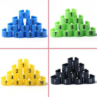 £3.84 • Buy AB_ 100Pcs Bird Rings Leg Bands For Pigeon Parrot Finch Canary Hatch Poultry CAL
