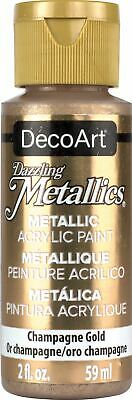 6 Pack-DecoArt Dazzling Metallics Acrylic Paint 2oz-Champagne Gold -DM-DA202 • 17.63£