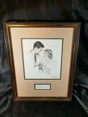 $ CDN22.63 • Buy Framed Norman Rockwell  After The Rice  Wedding Picture/Bride & Groom See Pics