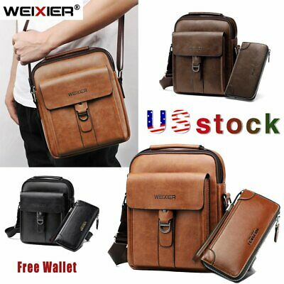 $22.99 • Buy WEIXIER Mens Leather Business Briefcase Messenger Crossbody Casual Shoulder Bags