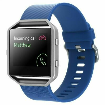 AU110.84 • Buy Fitbit Blaze FB502 Smart Fitness Watch Smartwatch Activity Tracker Blue Large