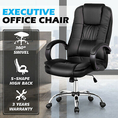 AU127.42 • Buy Executive Office Chair PU Leather Computer Gaming Racer Chairs Seating Green