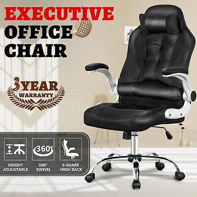 AU199.90 • Buy High Back Executive Office Chair Computer Gaming PU Leather Chairs W/Footrest