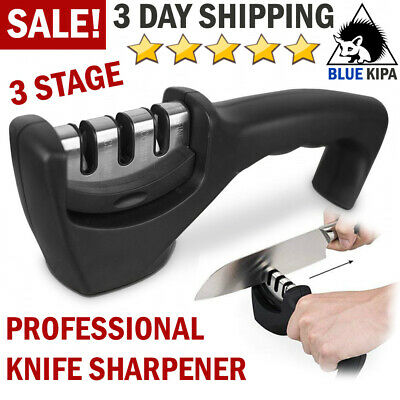 $8.99 • Buy KNIFE SHARPENER 3 Stage FAST Blade Restore Renew Kitchen Knives Sharpening Tool