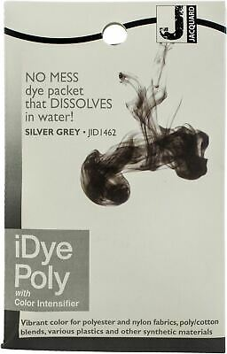6 Pack-Jacquard IDye Poly Fabric Dye 14g-Silver Grey -IPOLY-462 • 25.07£