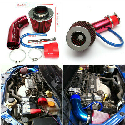 $40.73 • Buy Universal Car Cold Air Intake Filter Induction Pipe Power Flow Hose System Red