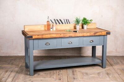 Bespoke Oiled Oak Top Butchers Block Sideboard With Knife Upstand And Drawers • 910£