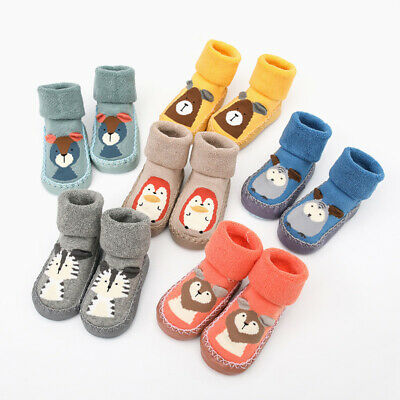 Baby Boy Girl Kids Socks Toddler Anti-slip Sock Shoes Boots Slipper Socks Warm • 3.99£