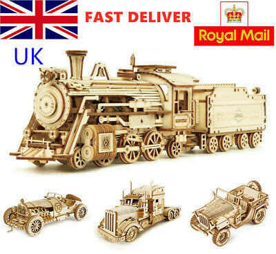 Robotime Train Model Building Kits 3D Wooden Puzzle 308pcs Toy For Children Teen • 15.25£