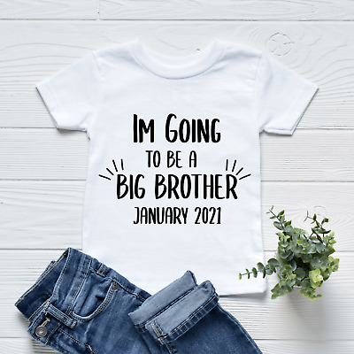 I'm Going To Be A Big Brother Kid's Children Pregnancy Baby Announcement T-Shirt • 8.49£