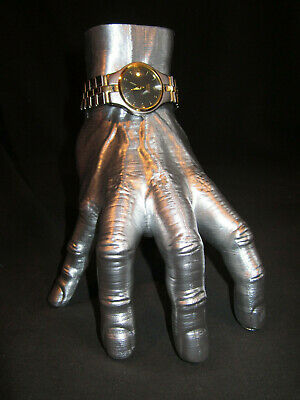 $ CDN43.80 • Buy Human Hand Watch Stand Addams Family Thing Prop Model LIfe Size (Chrome Finish)