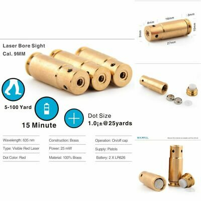 $ CDN48.66 • Buy 9mm High Accurate Cartridge Laser Bore Ammo Red Dot Sight Effect For Training
