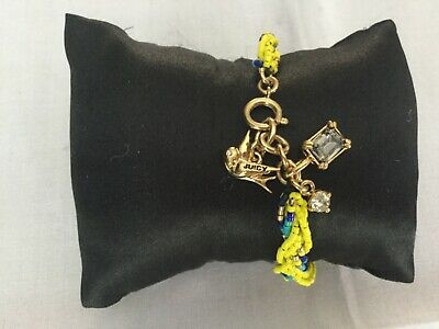 Juicy Couture New & Gen.Yellow & Gold Plated Twisted Bead Bracelet With Charms  • 6.29£