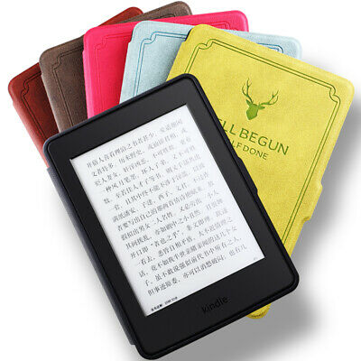 For Amazon Kindle Paperwhite 1 2 3 4 2018 Slim Leather Case Full Smart Cover Ou • 5.99£