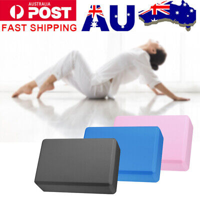 AU16.66 • Buy Yoga Fitness Block Brick Gym Sport Stretch Tool Home Exercise Practice Foaming