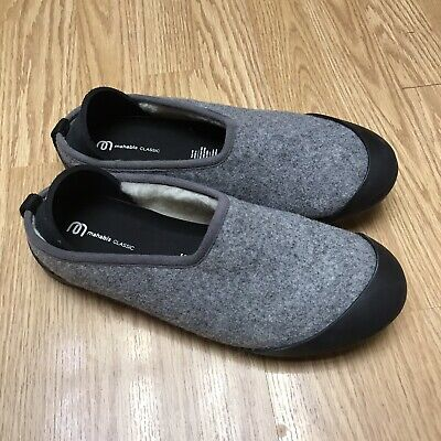 $29 • Buy Mahabis Classic Slippers Light Gray  Black Sole Size EURO 41 CL15108