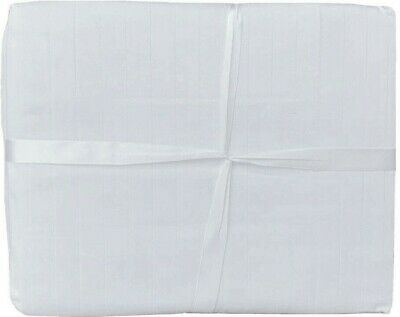 AU24.95 • Buy 100% Cotton Queen Bed Sheet Set (Fitted, Flat, 2x Pillows) Line White Brand NEW