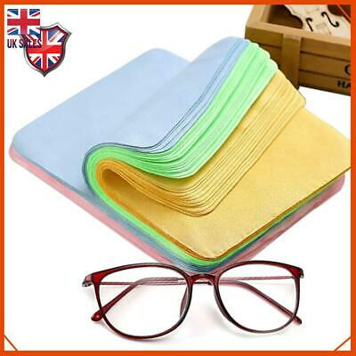 10x 5x 1x Chamois Leather Glasses Cleaning Cloth Camera Lens Spectacle Cleaner • 2.69£