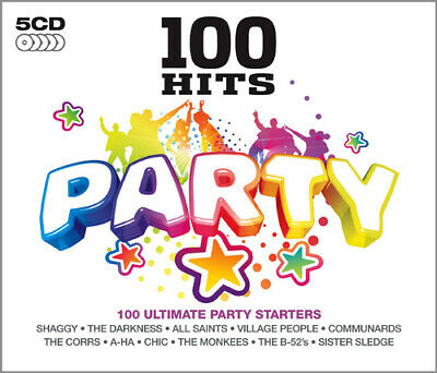 Various Artists : 100 Hits: Party CD 5 Discs (2012) Expertly Refurbished Product • 5.10£