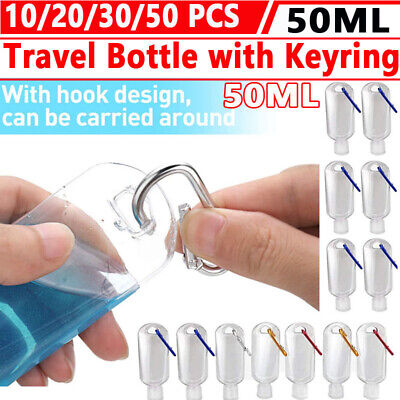 $ CDN8.83 • Buy Travel Bottles With Keychain, 2oz/50ml Plastic Squeeze Bottles With Flip Caps
