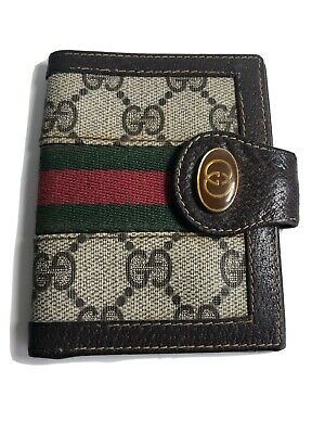 $29 • Buy GUCCI Accessory Collection Sherry Line Vintage GG WEB STRIPE Bifold WALLET