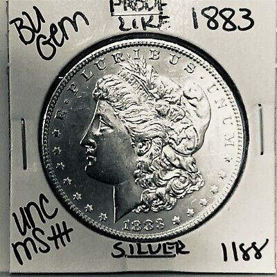 $41 • Buy 1883 Bu Gem Morgan Silver Dollar Unc Ms++ Genuine U.s. Mint Rare Coin 1188