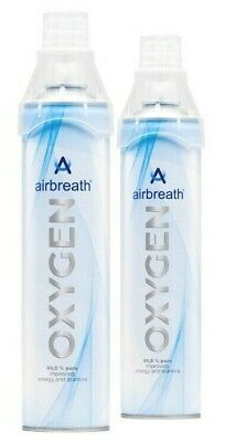 TWIN PACK Airbreath® OXYGEN 7L OXYGEN IN A CAN RECREATIONAL OXYGEN SUPPLEMENTAL • 18.60£