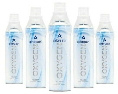 FIVE PACK Airbreath® OXYGEN 5L OXYGEN IN A CAN RECREATIONAL OXYGEN SUPPLEMENTAL • 39.50£