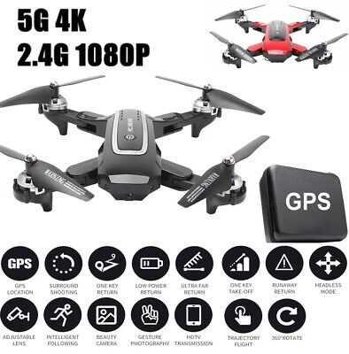 AU155.97 • Buy HJ38 RC GPS Drones Pro 2.4/5G With 1080P HD Camera WIFI FPV Foldable Quadcopter