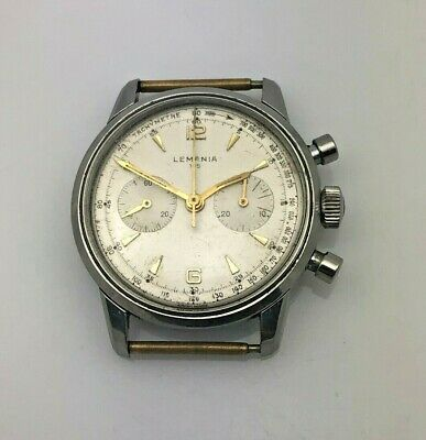 $ CDN483.15 • Buy Lemania 1950s -1960s Vintage Steel 105 Mens Chronograph Watch Ref 806-63 Ca.1277