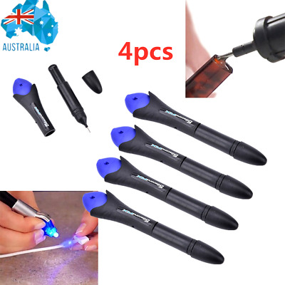 AU18.22 • Buy 5 Second Quick Fix Liquid Glue Pen UV Light Repair Plastic Welding Tools 4pcs AU