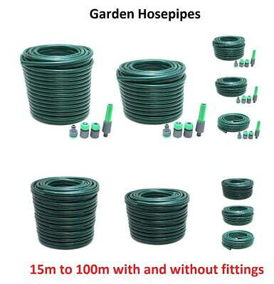 Reel Reinforced Garden Hose Pipes With & Without Hosepipe Fittings For Watering • 8.75£